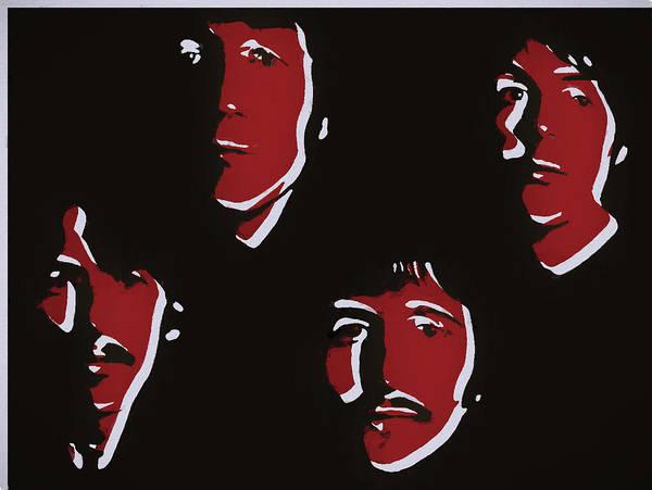 Hard Rock Mixed Media - Beatles Pop Art  by Dan Sproul