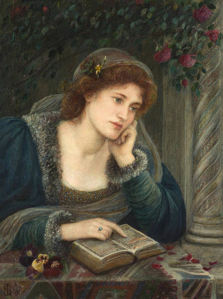 Wall Art - Painting - Beatrice by Marie Spartali Stillman
