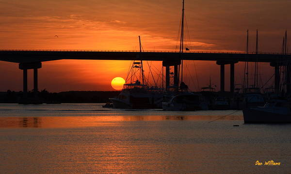 Photograph - Beaufort Sunset by Dan Williams
