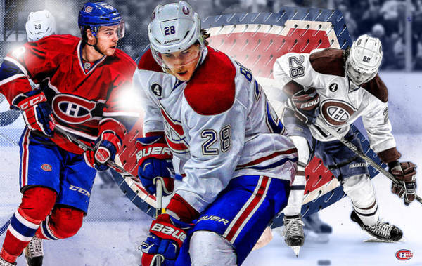 Montreal Canadiens Digital Art - Beaulieu Poster Print by Nicholas Legault