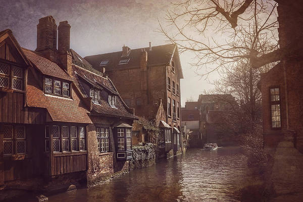 Narrow Boat Wall Art - Photograph - Beauteous Bruges by Carol Japp