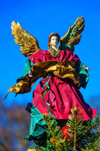 Wall Art - Photograph - Beautiful Angel Christmas Topper by Garry Gay