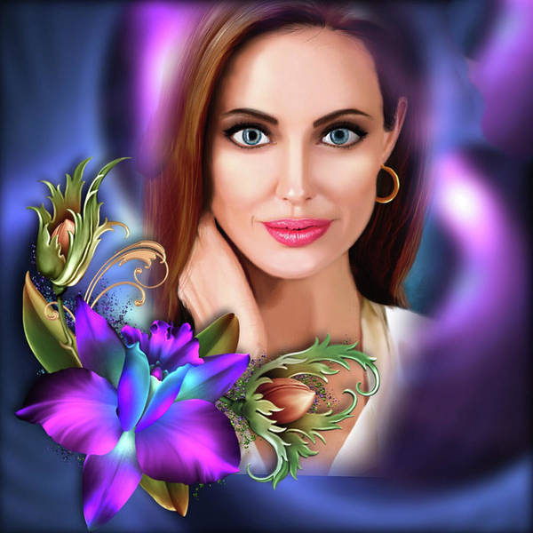 Digital Art - Beautiful Angie by Karen Showell