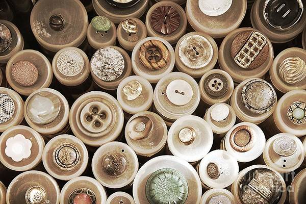 Photograph - Beautiful Antique Buttons With Sepia Tones by Carol Groenen