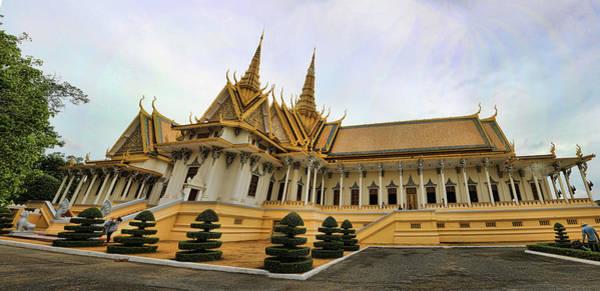Phnom Penh Wall Art - Photograph - Beautiful Architecture Royal Palace  by Chuck Kuhn