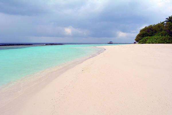 Photograph - Beautiful Beach With Clear Blue Water In Maldives by Oana Unciuleanu