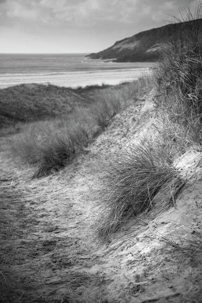 West Wales Photograph - Beautiful Black And White  Landscape Image Of Freshwater West Be by Matthew Gibson