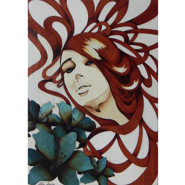 She Mixed Media - Beautiful Blue Eyes Woman by Andulino