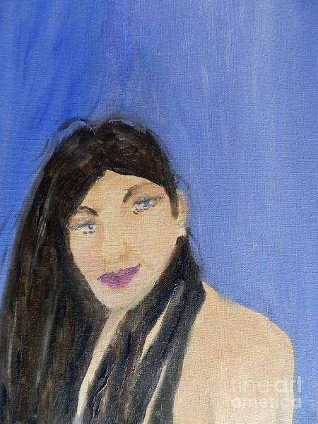 Wall Art - Painting - Beautiful Brunette by Pamela Meredith
