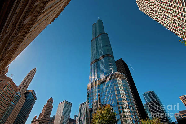 Photograph -  Beautiful Buildings Chicago Trump Tower  by Tom Jelen
