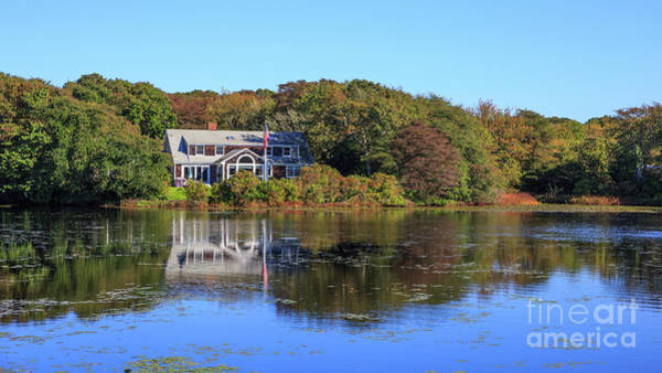Photograph - Beautiful Cape Cod Home On A Pond by Edward Fielding