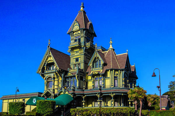 Queen Anne Style Photograph - Beautiful Carson Mansion by Garry Gay