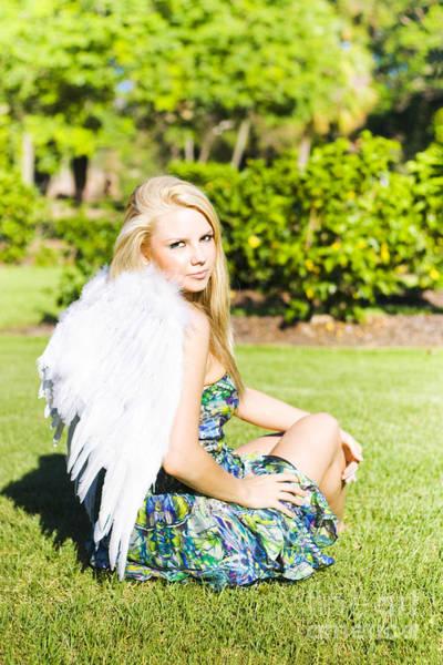 Guardian-angel Photograph - Beautiful Celestial Angel by Jorgo Photography - Wall Art Gallery