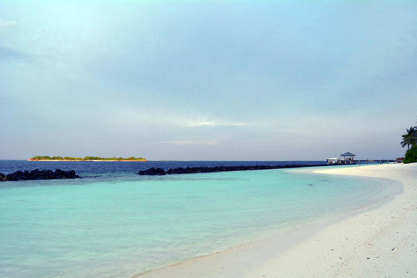 Photograph - Beautiful Clear Turquoise Water In Maldives by Oana Unciuleanu