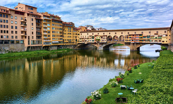 Photograph - Ponte Vecchio On A Spring Day In Florence, Italy by Fine Art Photography Prints By Eduardo Accorinti