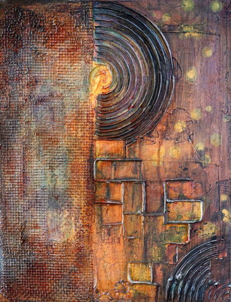 Recycle Painting - Beautiful Corrosion by Theresa Marie Johnson