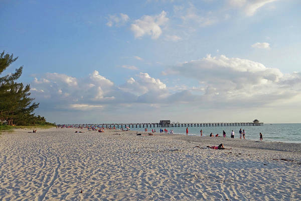 Beautiful Day On Naples Beach Naples Florida Art Print