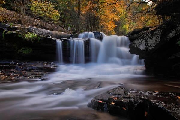Photograph - Beautiful Dunloup Creek Falls Wv by Matt Shiffler