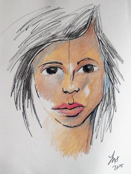 Drawing - Beautiful Face 68 by Loretta Nash