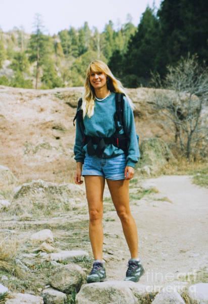 Photograph - Beautiful Female Model Hiking by Steve Krull