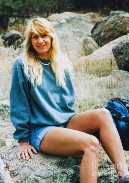 Photograph - Beautiful Female Model Posing As A Hiker by Steve Krull