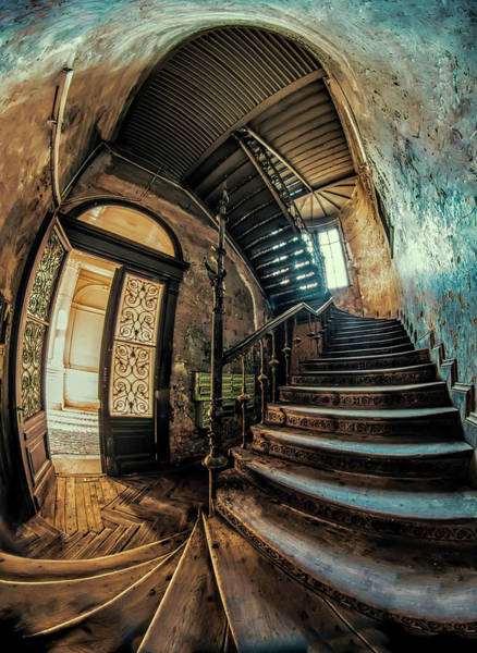 Wall Art - Photograph - Beautiful Forgotten Staircase by Jaroslaw Blaminsky
