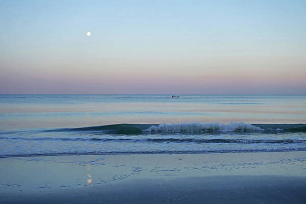 Photograph - Beautiful Full Moon Surise On Naples Beach Naples Florida by Toby McGuire