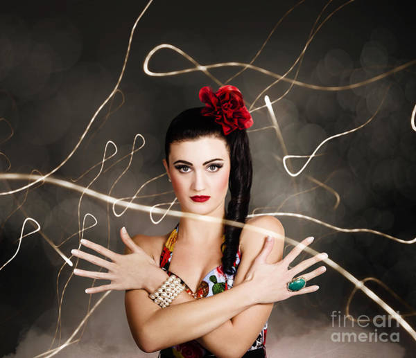 Wall Art - Photograph - Beautiful Girl In Retro Fashion Style by Jorgo Photography - Wall Art Gallery