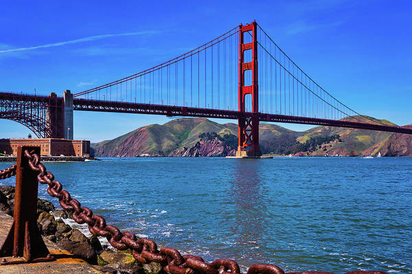 Chain Bridge Photograph - Beautiful Golden Gate Bridge by Garry Gay