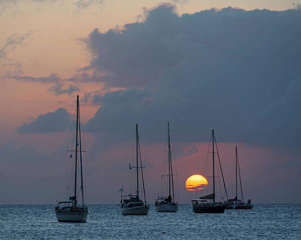 Saint Lucia Photograph - Beautiful Gros Islet Sunset Castries Saint Lucia Caribbean by Toby McGuire