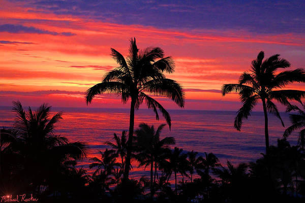 Ocean Wall Art - Photograph - Beautiful Hawaiian Sunset by Michael Rucker