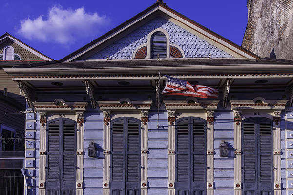 Nola Photograph - Beautiful House French Quarter by Garry Gay