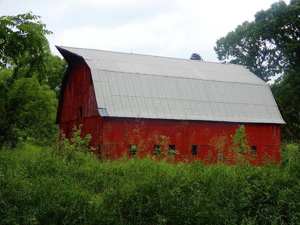 Photograph - Beautiful Huge Red Barn by Tina M Wenger