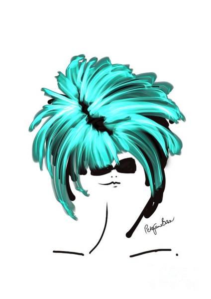 Hairdo Digital Art - Beautiful In Turquoise  by Peta Brown