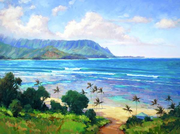 Wall Art - Painting - Beautiful Kauai Hanalei Bay by Jenifer Prince