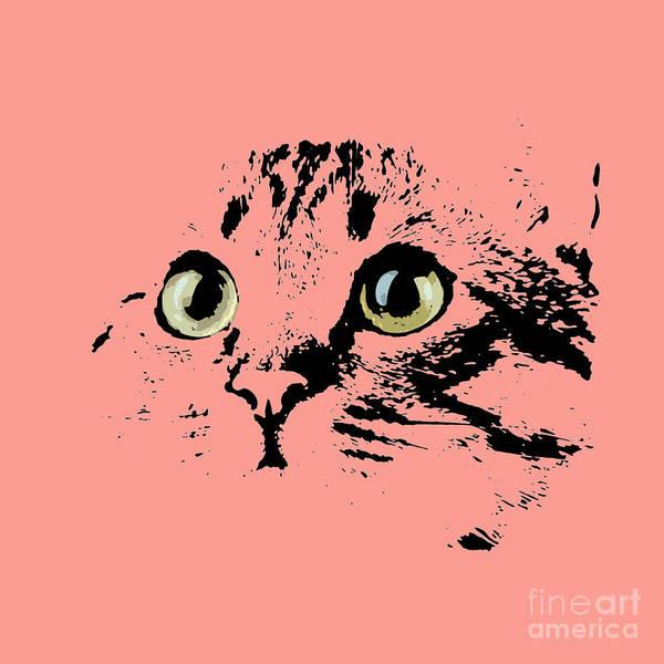 Drawers Painting - Beautiful Kitten Portrait by Drawspots Illustrations