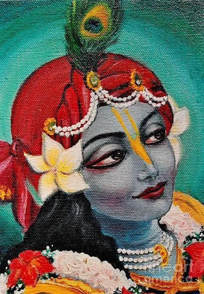 Wall Art - Painting - Beautiful Krishna by Alexandra Bilbija