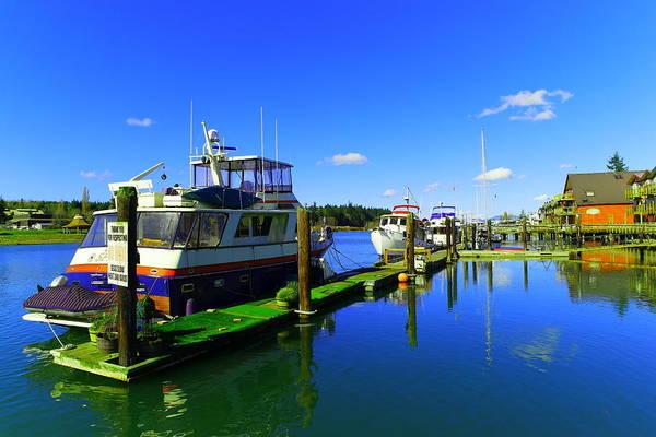 Swan Boats Photograph - Beautiful La Conner Washington by Jeff Swan