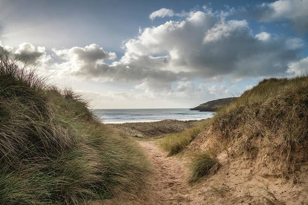 West Wales Photograph - Beautiful Landscape Image Of Freshwater West Beach With Sand Dun by Matthew Gibson
