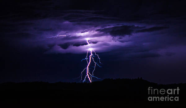 Photograph - Beautiful Lightning by Michael Cross