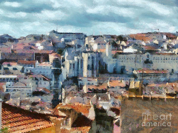 Painting - Beautiful Lisbon Street by Dimitar Hristov