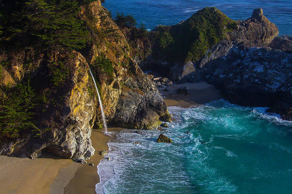 Big Sur Photograph - Beautiful Mcway Falls by Garry Gay