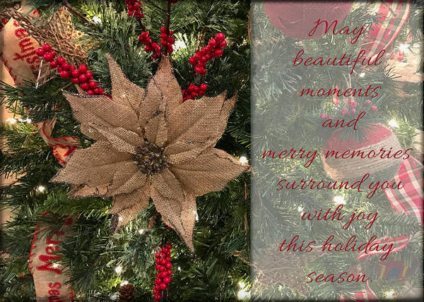 Photograph - Beautiful Moments Christmas Card by Teresa Wilson