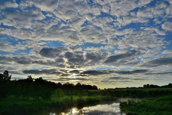 Photograph - Beautiful Morning Clouds Over Glacial Park In Mchenry County by Ray Mathis