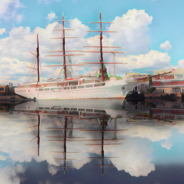 Photograph - Beautiful Nautical Morning In The Clouds by Debra and Dave Vanderlaan