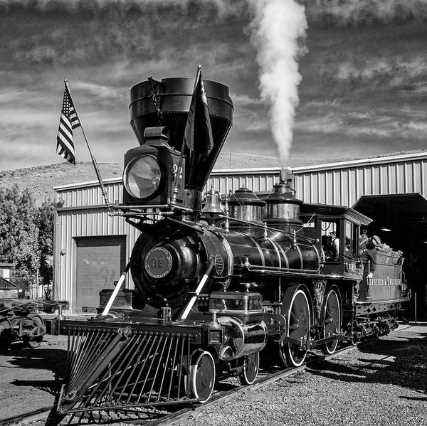 Steam Engine Photograph - Beautiful Number 22 In Black And White by Garry Gay