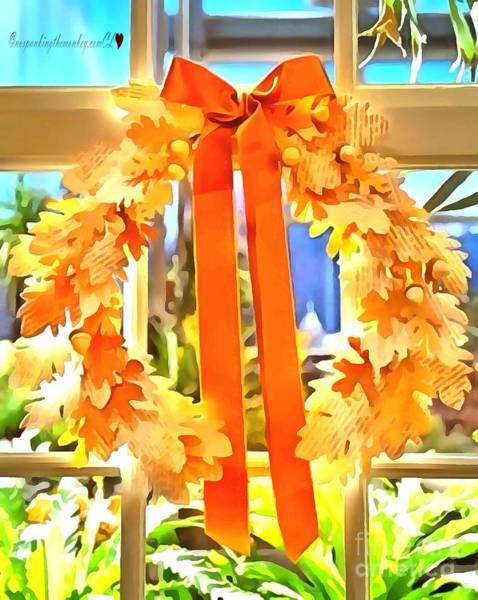 Painting - Beautiful Orange Wreath by Catherine Lott