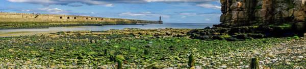 Sea Wall Art - Photograph - Beautiful Panorama Around Tynemouth Pier And Lighthouse by Iordanis Pallikaras