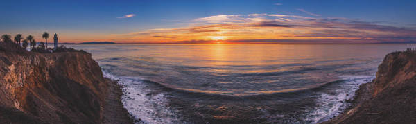 Photograph - Beautiful Point Vicente Lighthouse At Sunset Panorama by Andy Konieczny