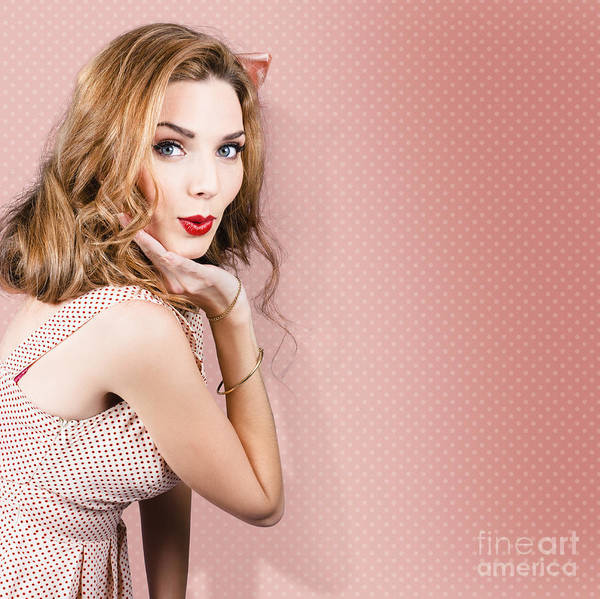 Photograph - Beautiful Portrait Of 1950 Model Girl In Pin Up by Jorgo Photography - Wall Art Gallery